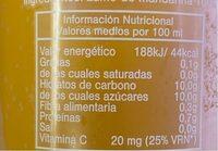 Zumo de mandarina - Voedingswaarden - es