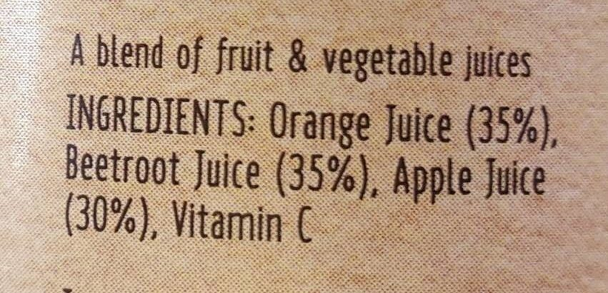Orange/ Beetroot Apple - Ingredients - fr