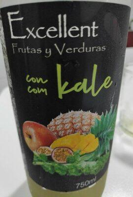 Frutas y verduras con kale