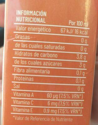 Bebida de avena con zumo - Nutrition facts - es