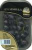 Uva negra sin semilla tarrina