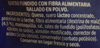 Queso Caserio Rallado FUNI.50G - Ingredientes