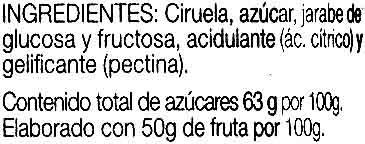 Ciruelas selectas - Ingredientes