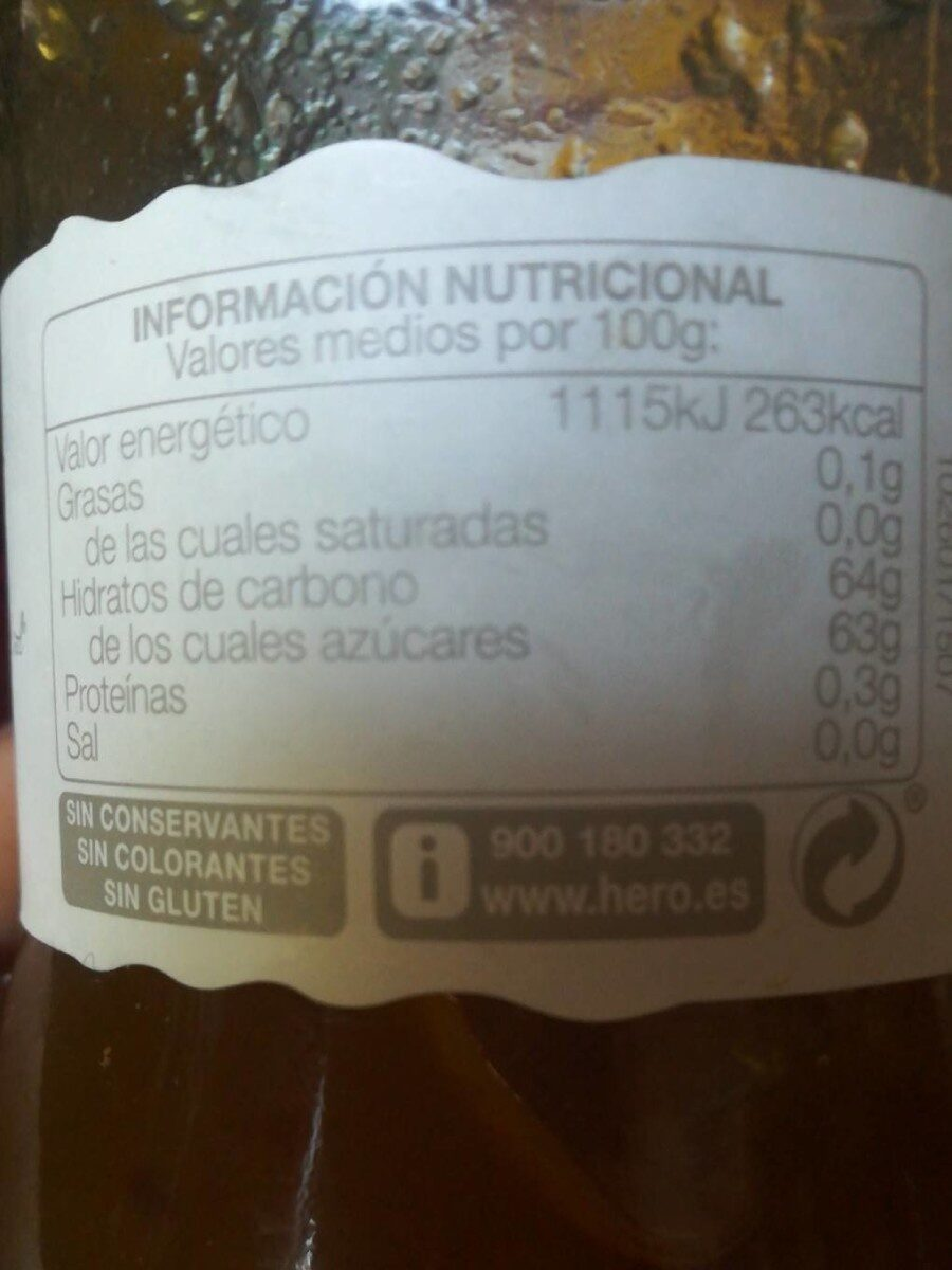 Ciruelas selectas - Información nutricional - es