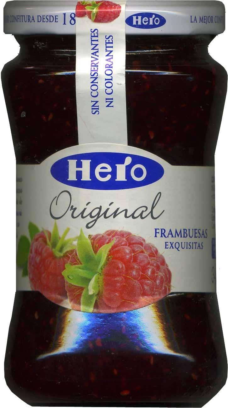 "Confitura de frambuesas ""Hero Original"" - Producto"