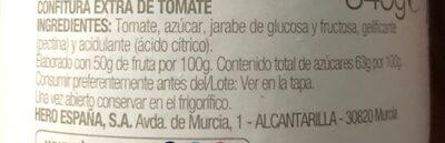 Hero Confitura De Tomate - Ingredientes - es