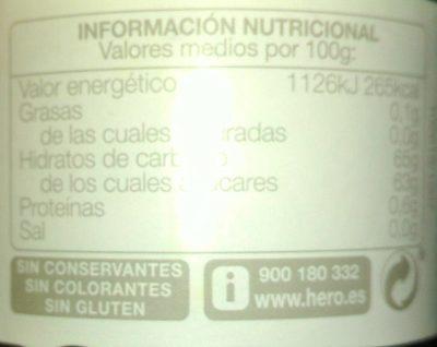 Confitura de cereza - Voedingswaarden