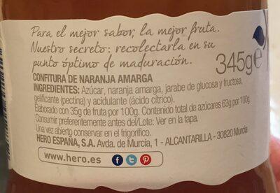 Confitura De Taronja Amarga - Ingrédients - es