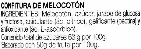 "Confitura de melocotón ""Hero Original"" - Ingredientes"