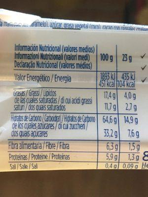 MueslyEnergia - Información nutricional