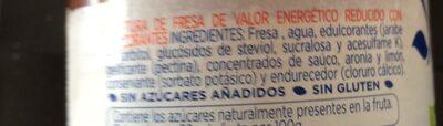 Mermelada Hero Diet Fresa 290G - Ingredients