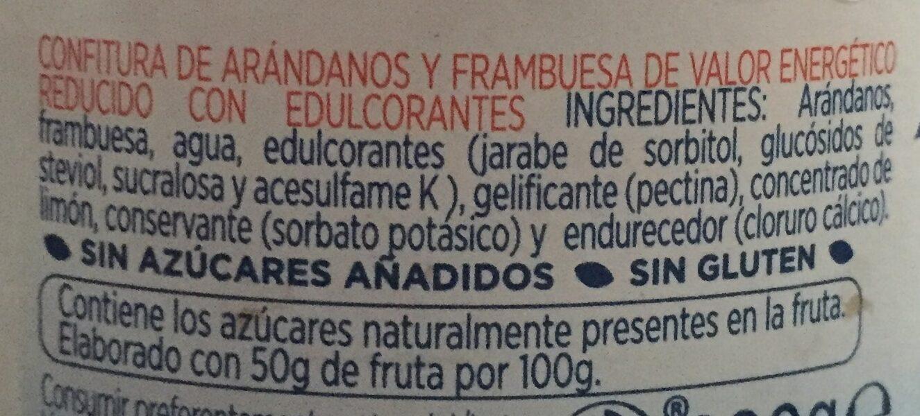 Mermelada de arándanos y frambuesas diet - Ingredientes - es