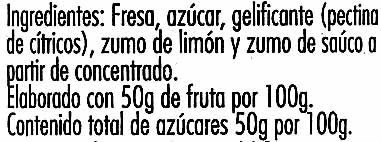 Mermelada de fresas - Ingredients