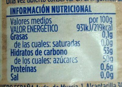 Mermelada de fresas - Informació nutricional