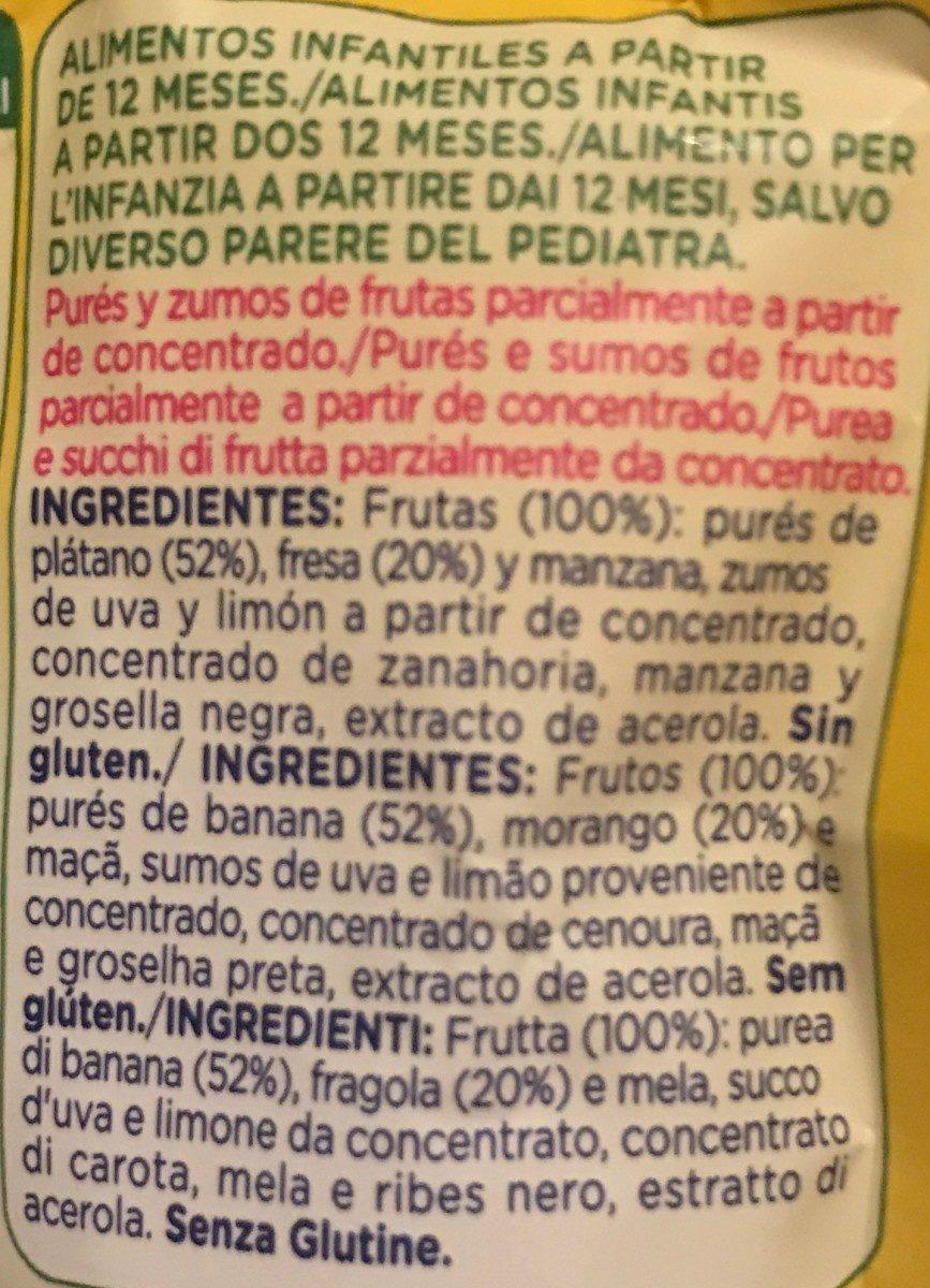 Mi fruta plátano y fresa - Ingrédients