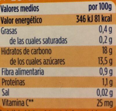Hero Baby Merienda - Información nutricional