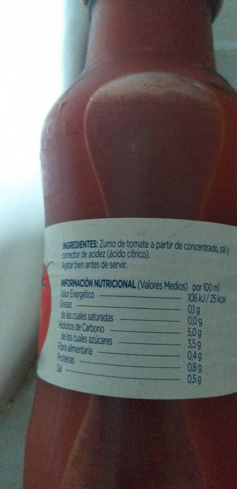 Zumo de tomate - Ingredientes - es