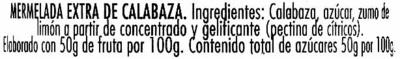 "Mermelada de calabaza ""Hero"" Temporada - Ingredientes"