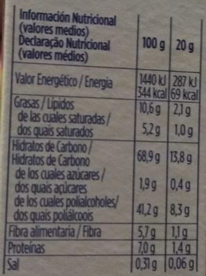 Barreta De Cereals Muesly Línia Praliné Hero - Información nutricional