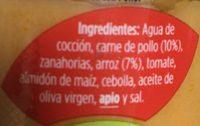 Natur arroz con pollo - Ingredients - es