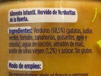 Hervido de verduras de la huerta - Ingredients - es