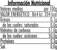 Mermelada de piña - Informació nutricional