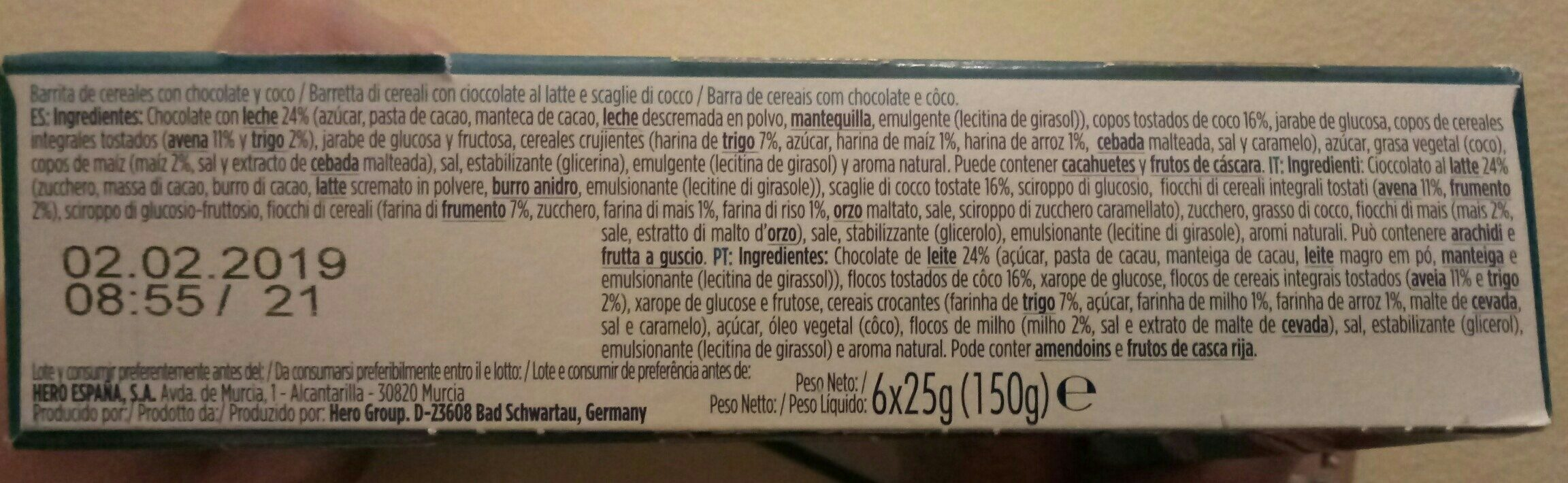 Muesly chocolate y coco - Ingredients - fr