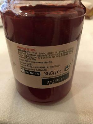 Confitura Fresa - Ingredientes