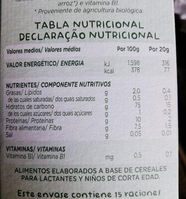 Solo multicereales 0% - Voedingswaarden - pt