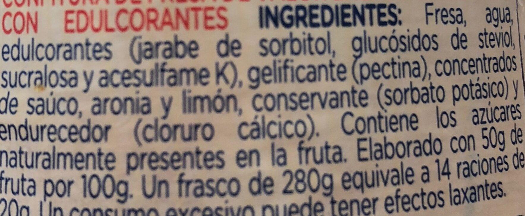 Mermelada de fresa - Ingredients - es