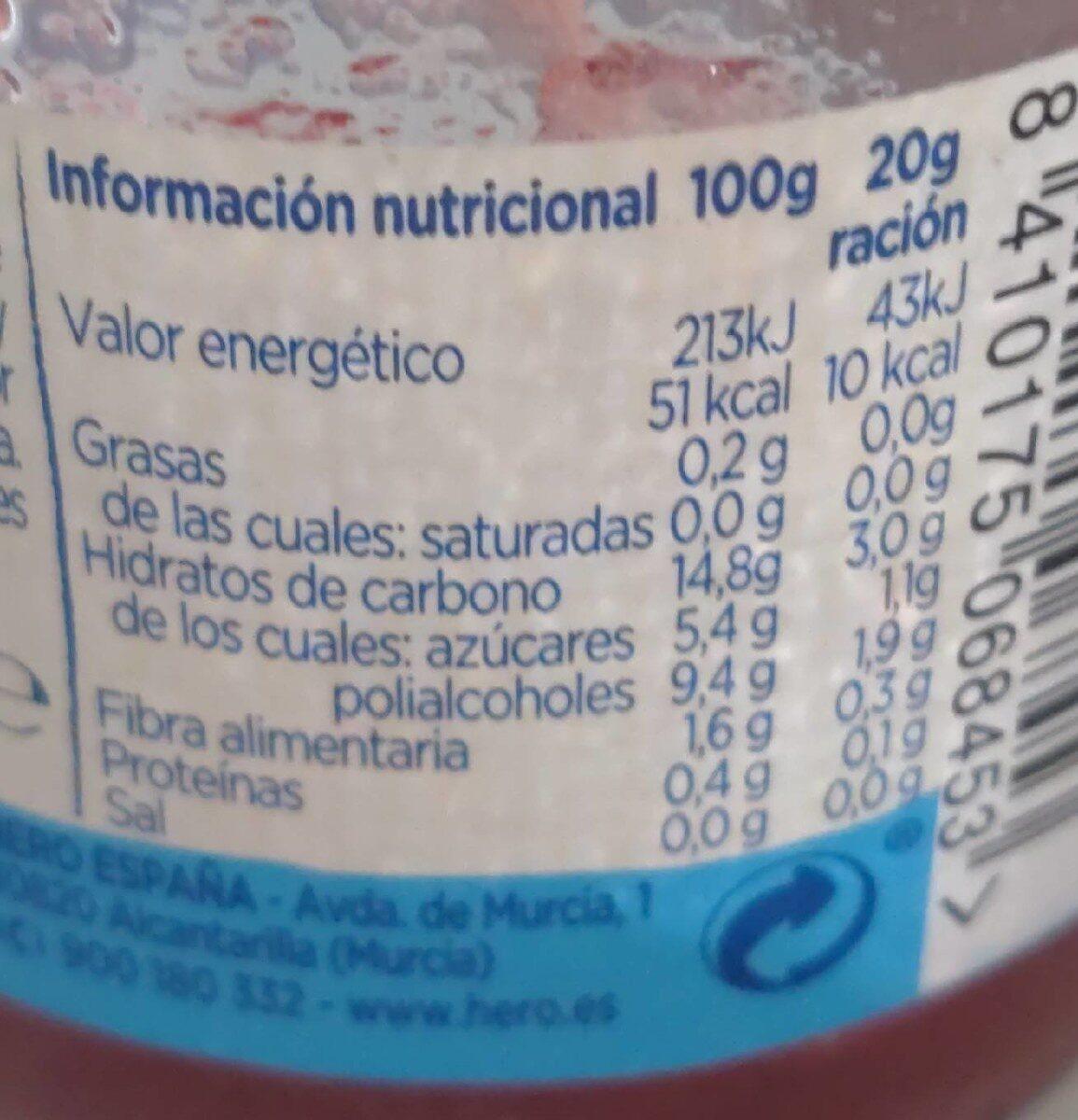 Mermelada de fresa - Nutrition facts - es