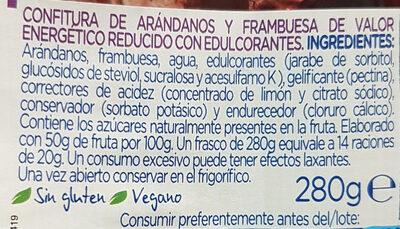 Diet Arandanos y Frambuesas - Ingredients