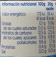 Diet Arandanos y Frambuesas - Informació nutricional