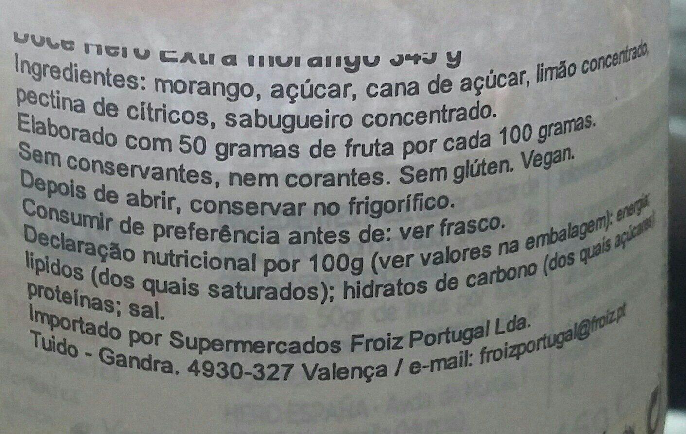 Fresas - Ingrédients - fr