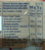 Muesly avena - Nutrition facts - es