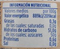 Arándanos de temporada zero - Voedingswaarden