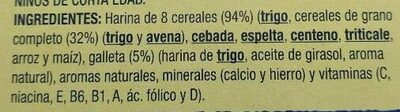 8 cereales galleta 0% - Ingredientes - es
