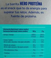 Barrita chocolate proteína - Informations nutritionnelles - es