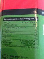 1L Huile Meravella Borges - Informations nutritionnelles
