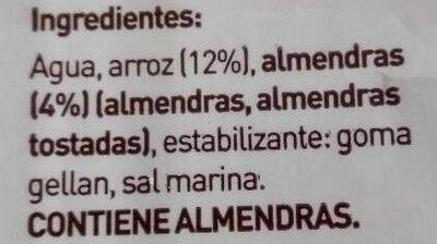Natura Almendra - Ingrédients