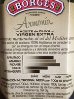 Borges Verge Hojiblanca - Nutrition facts - fr