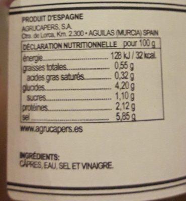 Câpres prémium - Ingrediënten - fr