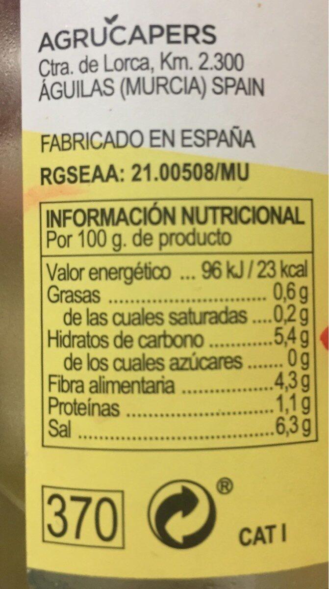 Alcaparrones finos - Información nutricional - es