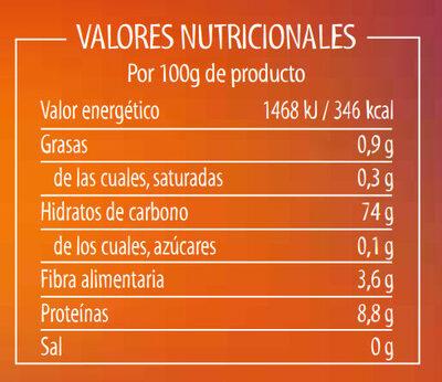 Brillante Arroz Basmati Brajma - Nutrition facts - es