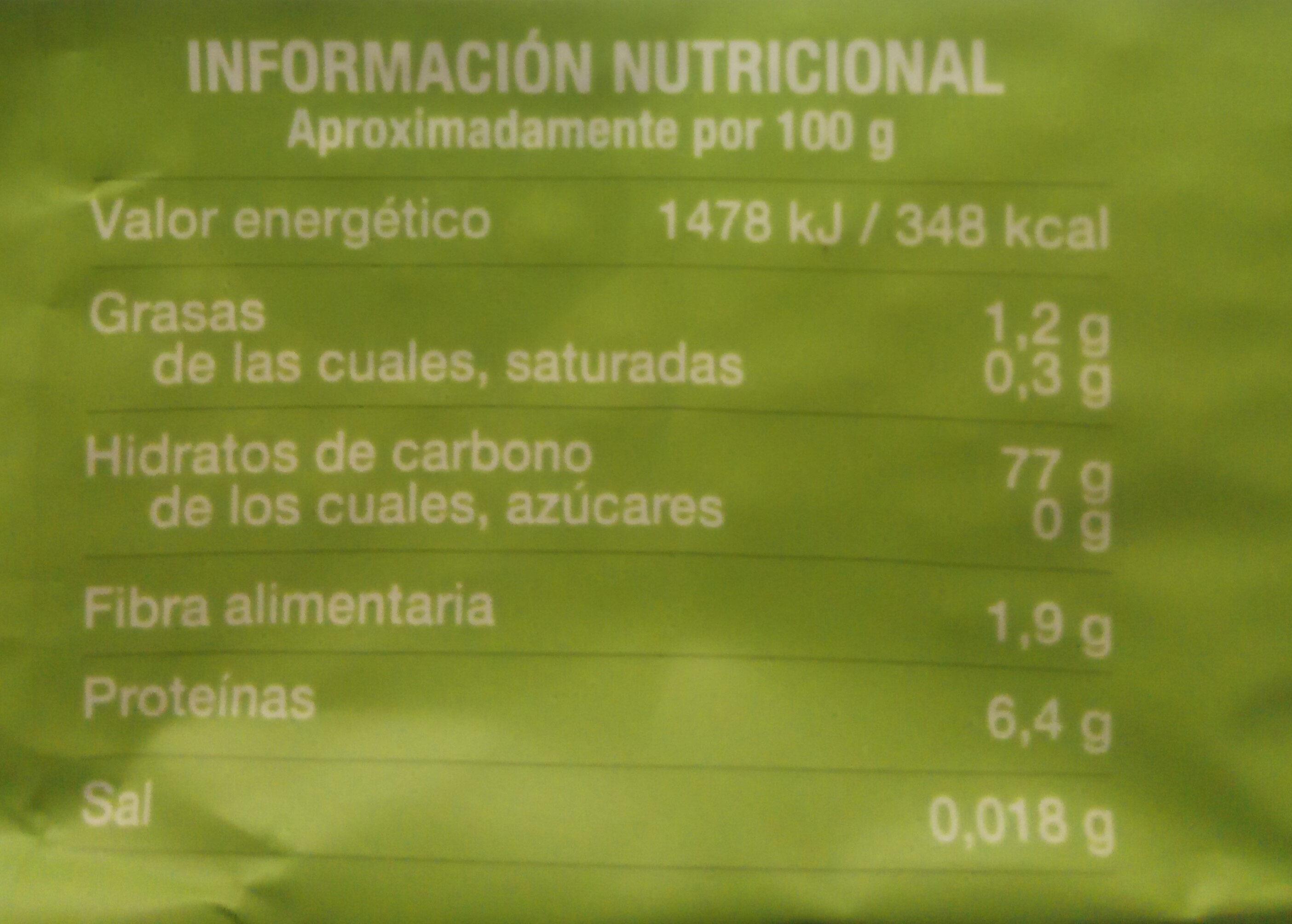 Brillante Sabroz - Información nutricional - es