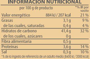Brillante vasito de Arroz redondo - Información nutricional - es