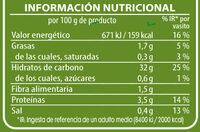 Vasito de arroz largo formato XL - Informations nutritionnelles - es