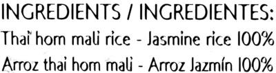 Thai jasmine rice - Ingredientes - es