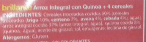 Arroz integral con quinoa - Ingredients
