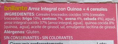 Arroz integral con quinoa, avena, trigo, centeno y cebada - Ingredients